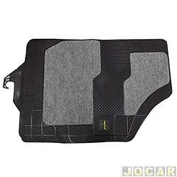 Tapete de carpete+borracha - Borcol - Grupo D  (tipo universal - ver detalhes) - Opala - Torino 4 peças - cinza - jogo - 03718763