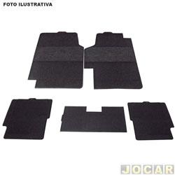 Tapete de borracha - BRB Unicol - Civic 2001 até 2011 - Stratus 5 peças - preto - jogo - 1510