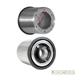 Cubo para volante - Wega - Astra/Corsa/Celta/Kadett/Ipanema/Omega/Prisma - Calibra/Vectra - capa de alumínio - cada (unidade) - WP-122
