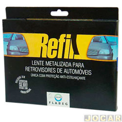 Lente do retrovisor sem base - Kadett - Monza 94/  - azul - lado do motorista - cada (unidade)