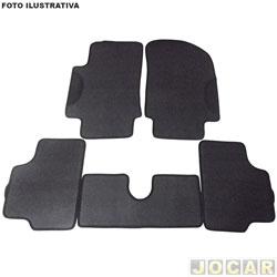 Tapete de borracha - BRB Unicol - S10/Grand Blazer/Blazer Cabine Dupla - Golden Rubber 5 peças - preto - jogo - 6038