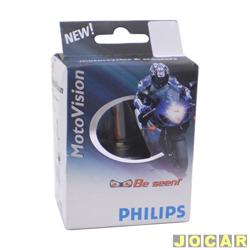L�mpada do farol - Philips - H4 - 35/35W - Motovision - para motos pequenas - cada (unidade) - 12458MV
