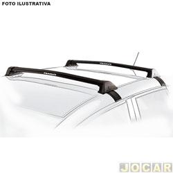 Rack do teto transversal - Eqmax - City 2014 em diante - New Wave Aluminium - preta - par - 6283