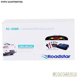 Sensor de estacionamento - Roadstar - universal fixado no retrovisor - cinza - cada (unidade) - RS104BR/CINZA