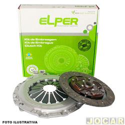 Set de embreagem parcial (platô + disco) - Elper - Fiesta 1.0 8V Endura 1996 até 1999/1.0 8V Zetec Rocam 1996/ - 1.3 8V Endura 1996 até 2006/1.4 16V Zetec 1996 até 1999/Ka - jogo - 70111
