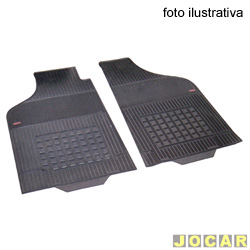 Tapete de borracha - Borcol - Fiorino/Uno Furg�o 1987 at� 2013 - Interlagos 2 pe�as - preto - par - 01412351