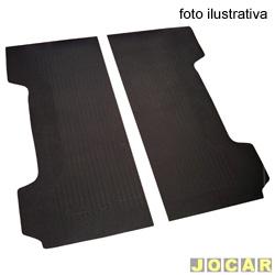 Tapete da ca�amba - Borcol - F1000  1993 em diante - F250 1998 at� 2011 - preto - par - 01313110