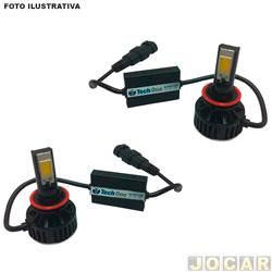 Kit lâmpada led do farol - Tech One - HB3(9005) - 6000K - 3000 lumens - jogo - T1LDKIT90056K30