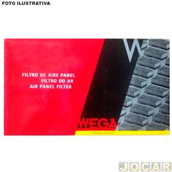 Filtro da cabine - Wega filtros - City/Fit 1.5 16v 2008 em diante - carvão ativado - cada (unidade) - AKX1939/C